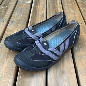 Privo Black Comfort Walking Flats, Size 8.5